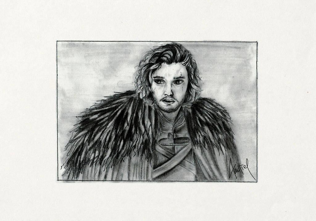 Jon Snow drawing - Game of Thrones - fanart by Amitielik