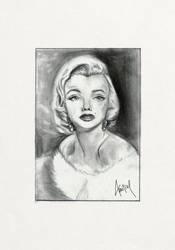 Marilyn Monroe - fanart drawing by Amitielik