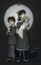 The Baudelaire Orphans by yellowbell
