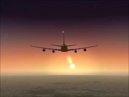 sunset flight by tbggtbgg