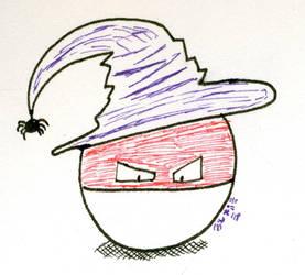Inktober: You're a Wizard, Voltorb! by SirWongIII