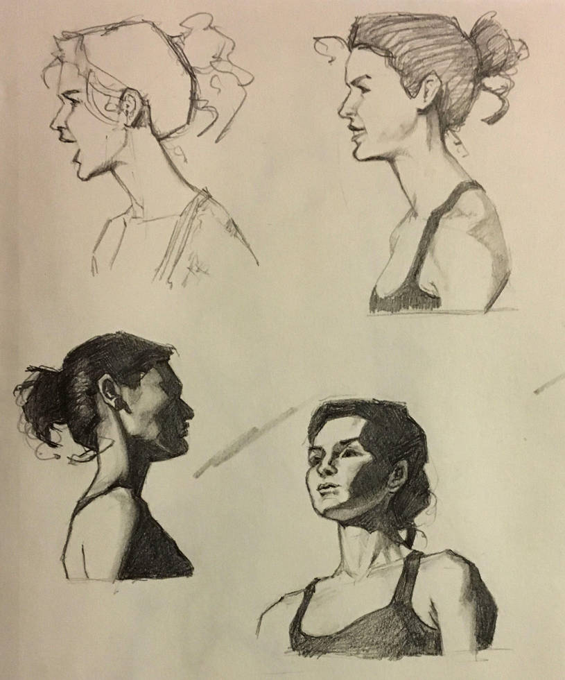 Facial Expressions and Shading by Dempsain