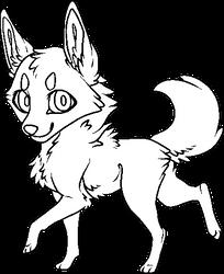 F2U Chibi Canine Pixel Base by Allvar