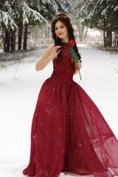 Belle in the red dress by Alena-Koshkar