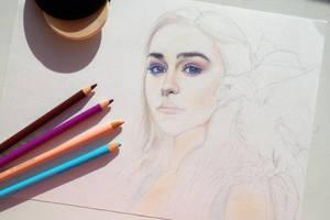 Daenerys Targaryen - Game of Thrones (WIP) by Alena-Koshkar