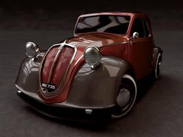 Fiat-500 Toppolino 1936 by sedatdurucan