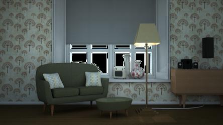Vintage Monty sofa Scene by niji-sphere