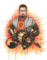 Gordon Freeman by PlumpOrange