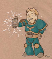 Space pipboy by PlumpOrange