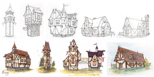 Bavarian Architecture by PlumpOrange