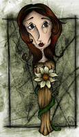 A Lady with a Flower by vollmond