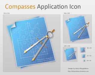 Compasses Application Icon by shlyapnikova