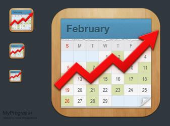 MyProgress+  App Icon by shlyapnikova