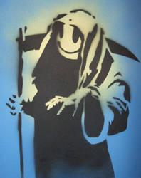 Banksy Grin Reeper by vix-chan