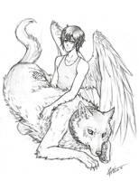 Kylin and Damian by MoonlightStarfish