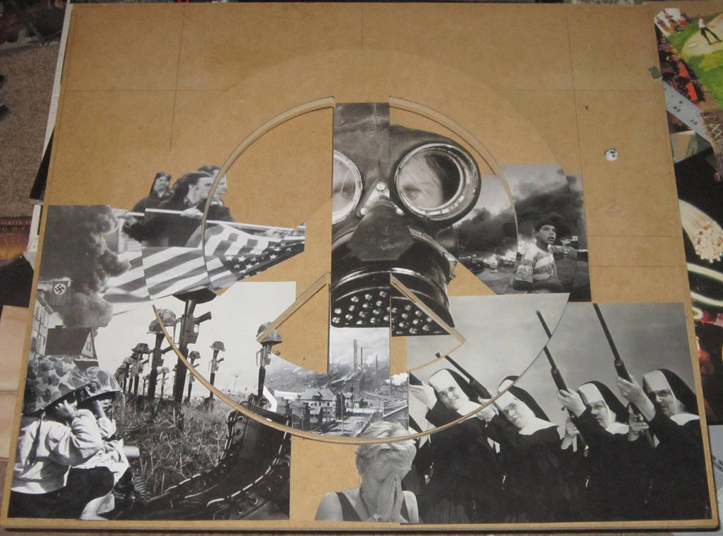 Peace of Shit  - collage in progress by PancreasSupervisor