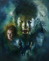 Wolfman movie poster painting by sebastiancheng