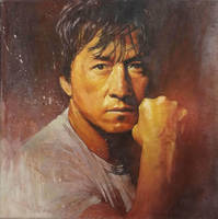 Jacky Chan Painting by sebastiancheng