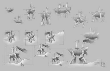Steampunk Walker Scraps by Legato895