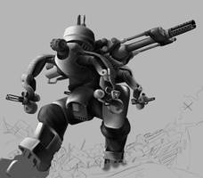 Painter - Mech - Help - WIP5 by Legato895