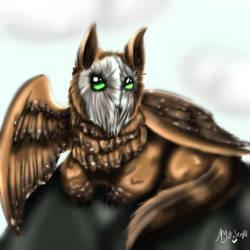 Owl cat thingy by Myo-Senpai