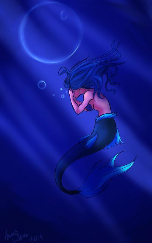 Underwater Tears by Myo-Senpai