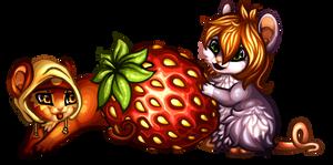 one strawberry by SheriBonBon