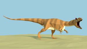 Allosaurus Low Poly 1 by kuzim