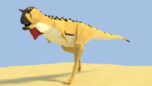 Carnotaurus Low Poly by kuzim