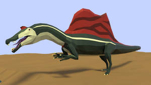 Revamped: Spinosaurus in Low Ploy by kuzim