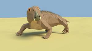 Lystrosaurus in low Poly by kuzim
