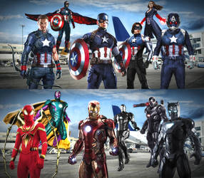 Team Cap vs Team Iron Man by DesmondKing