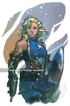 Lady Captain America by MischievousMartian