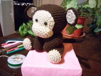 Amigurumi mono/monkey by KururuRyu