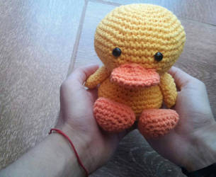 Crochet pato/duck by KururuRyu
