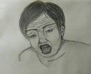 Enojo / (Sketch) / Angry face. by KururuRyu