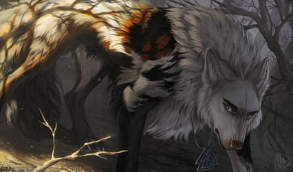 Half in the Shadows by Aurru