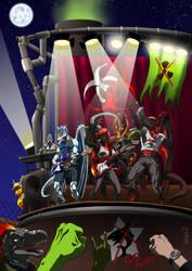 Red Hazard Crew-Metal Band by ReptileCynrik