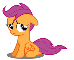 Scootaloo Crying by liamwhite1