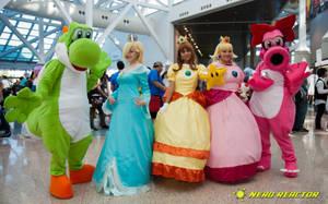 Mario Cosplaying Group at AX by Chingrish