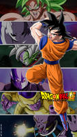 Goku and his opponents in DBS by adb3388