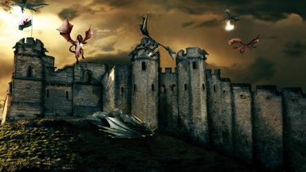 Dragons Wallpaper by TadeuGarcia