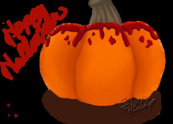 Bloody Pumpkin by SilverTetsusaiga