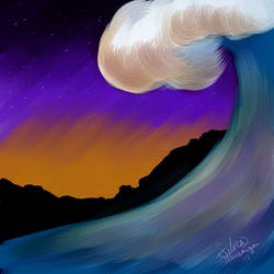 Sunset Wave by SilverTetsusaiga