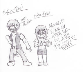 S-Alex-Fire and Rube-Erin! by TheDaucta