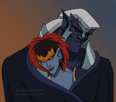 Thailog and Demona by VictoriaDAEDRA