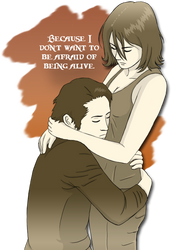 Walking Dead: Glenn and Maggie by SilverHyena