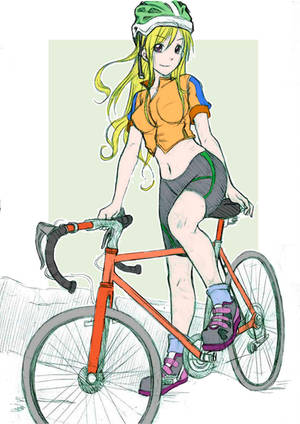 chica ciclista sketch by revista-paradoja