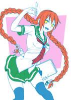 sketch student girl by revista-paradoja