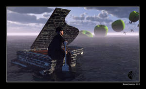 M. Rene Magritte on an expedition to new worlds by arteandreas
